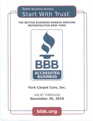 York Carpet Cleaning BBB 2010